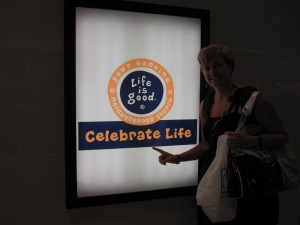 This is what greeted us upon our arrival home.  Indeed, Life is Good and should be celebrated!