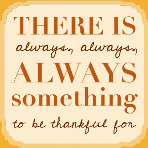 "week 1 – ""THANKFUL"""