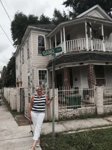 Here I am at our old house on Gano Street!!!